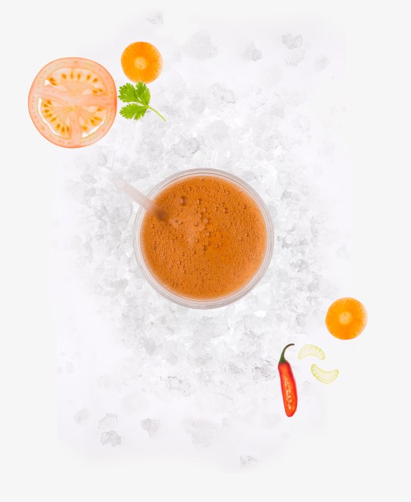 Salsa juice ice